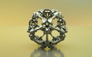 Mandelbulb 3D printable model by nic022