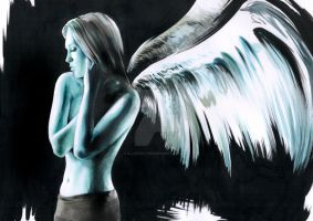 Aquarell Angel by Illustrate23