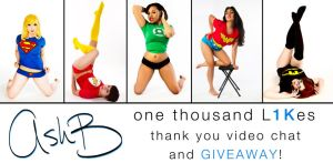 1 thousand Likes video chat and giveaway! by AshBimages