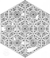 Space by M-C-Escher-Style
