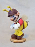 Bee Mario by superclayartist