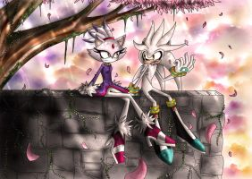 Silver and Blaze - Sitting in The Afternoon Sun by TheHummingInker
