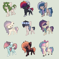 Butt-Ton of Adopts collab thing by Rainbow-ninja-adopts