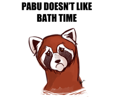 Pabu No Like Bath Time by ElizaLento