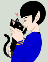 Spock's Kitty loves him by YukiDemonKat