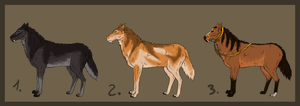 Werehorses Adopts -OPEN- by Chippie18-Adoptables