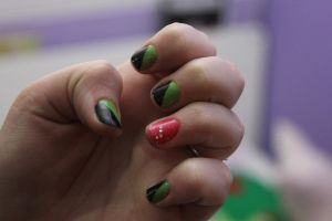 Wicked nail art by rockheartblondie