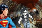 Superboy vs. Lobo epic fight by connie866