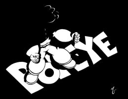 Popeye Title black by zombiegoon