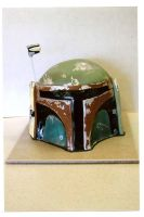 Boba Fett Helmet Cake by The-EvIl-Plankton