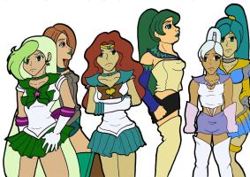Senshi group by purenightshade