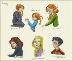 HP: Harry Potter Doodles by Loleia