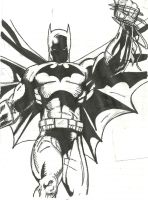 Another Batman drawing by MrG985