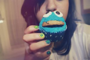 Cupcake Cookie Monster by OnlyOnexception