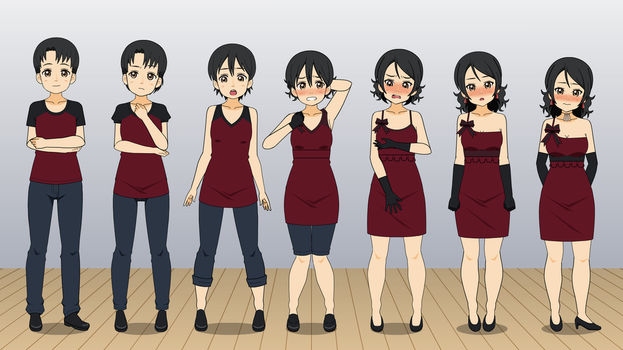 Red Dress : TG Sequence by eppuzoha