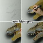 T. Rex drawing by marcellobarenghi