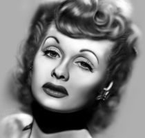 Lucille Ball (I Love Lucy) by laziee2ann
