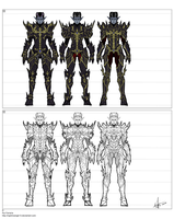 Raziel armor concept sheet by NightmareGK13