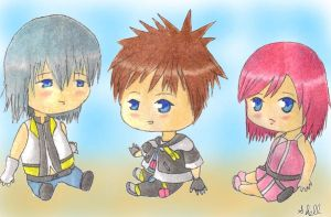 Kingdom Hearts Chibis by 331060