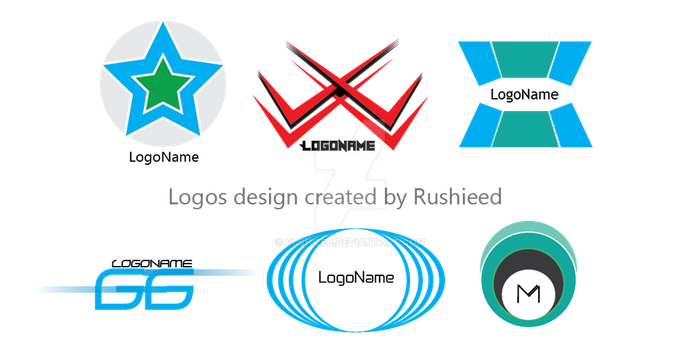 i create a simple logos for a few past days if you by RUSHIEED