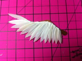 Gluing the first layer of feathers by ThirdDimensionAlters