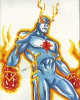 Captain Atom by PDInk