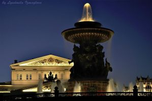 small fountain and big theater by Lyutik966