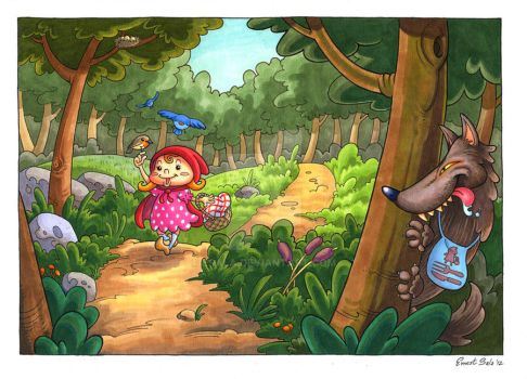 Walking through the forest by Esala