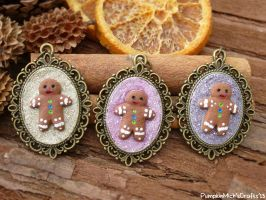 GingerBread Man Cameos by PumpkinDream