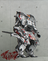 Boltor Mecha - Flash Concept Art by Liger-Inuzuka