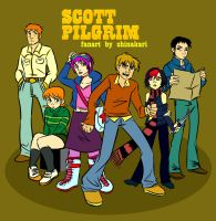 Scott Pilgrim - The Gang by shinakari