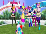 MMD- The entire sugar family by Chibbyartist