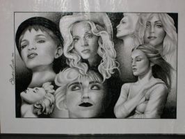 Madonna Portraits by ElectricLinda