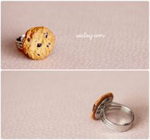 Chocolate chunk cookie on ring. by Aiclay
