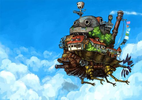 Howl's Moving Castle by amyanimalover