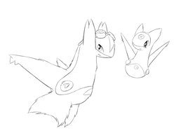 Latice and Lel Lineart practice by Latice22