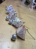 fortune cookie earrings by MagicalMegumi