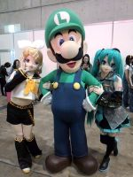 VOCALOID's and LUIGI by sandaime01