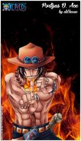 Portgas D. Ace (one piece) by al'd.baran by AldbaranTaurus