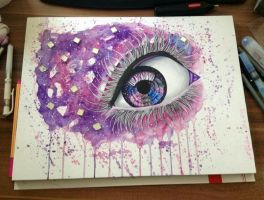 Purple Mirror Eye - Selling the original! by DeadOceans