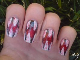Jaws Nail Design by AnyRainbow