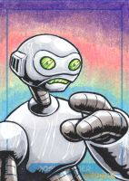 Fugitoid sketch card by JLWarner