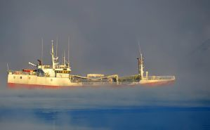 Russian trawler in Ice by nordfold
