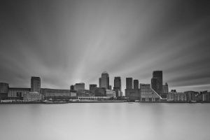 Isle of Dogs with Canary Wharf by WideAngleJunkie