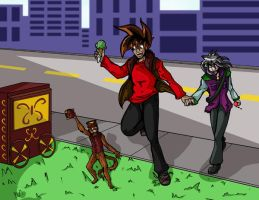 Off to see the dancing monkey by eecomics