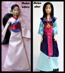 repainted ooak mulan - the girl who saved china. by verirrtesIrrlicht