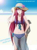 Kushina Uzumaki beach season by S-I-M-C-A