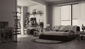 Room 19 Black and White by M-Pixel