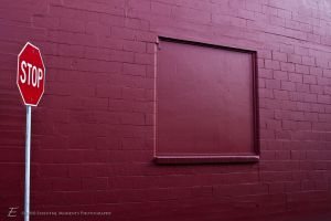 Stop Sign and Wall by inessentialstuff