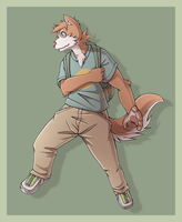 Brown Husky Kid by silverava